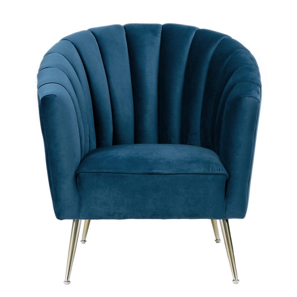 Rosemont Blue Velvet Accent Chair