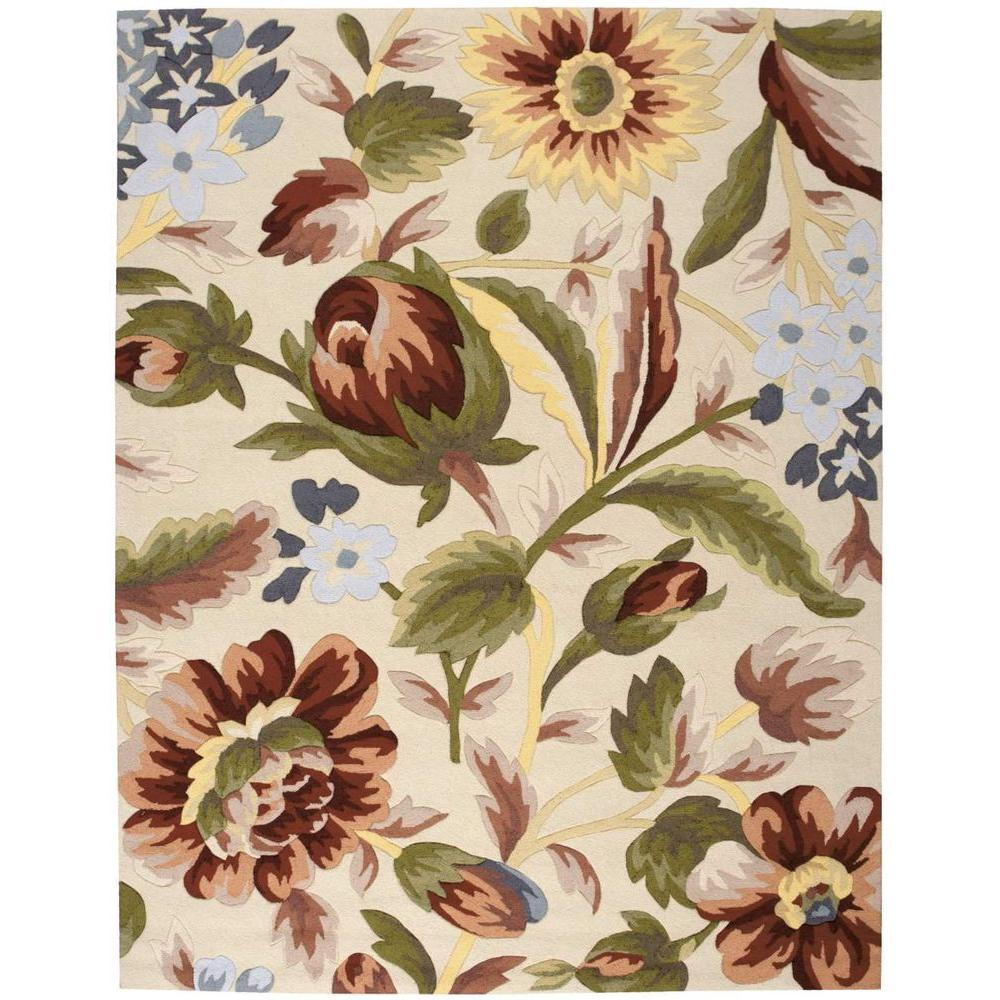 Fantasy Ivory 8 ft. x 10 ft. 6 in. Area Rug