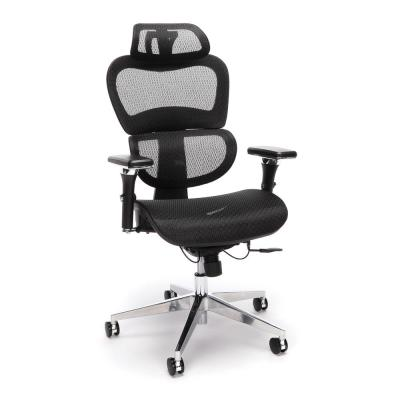 Core Collection Black Ergo Office Chair Featuring Mesh Back and Seat with Optional Headrest
