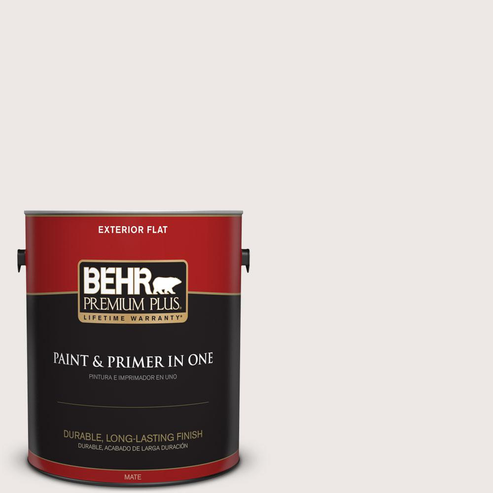BEHR Premium Plus 1-gal. #740A-1 Downy Fluff Flat Exterior Paint