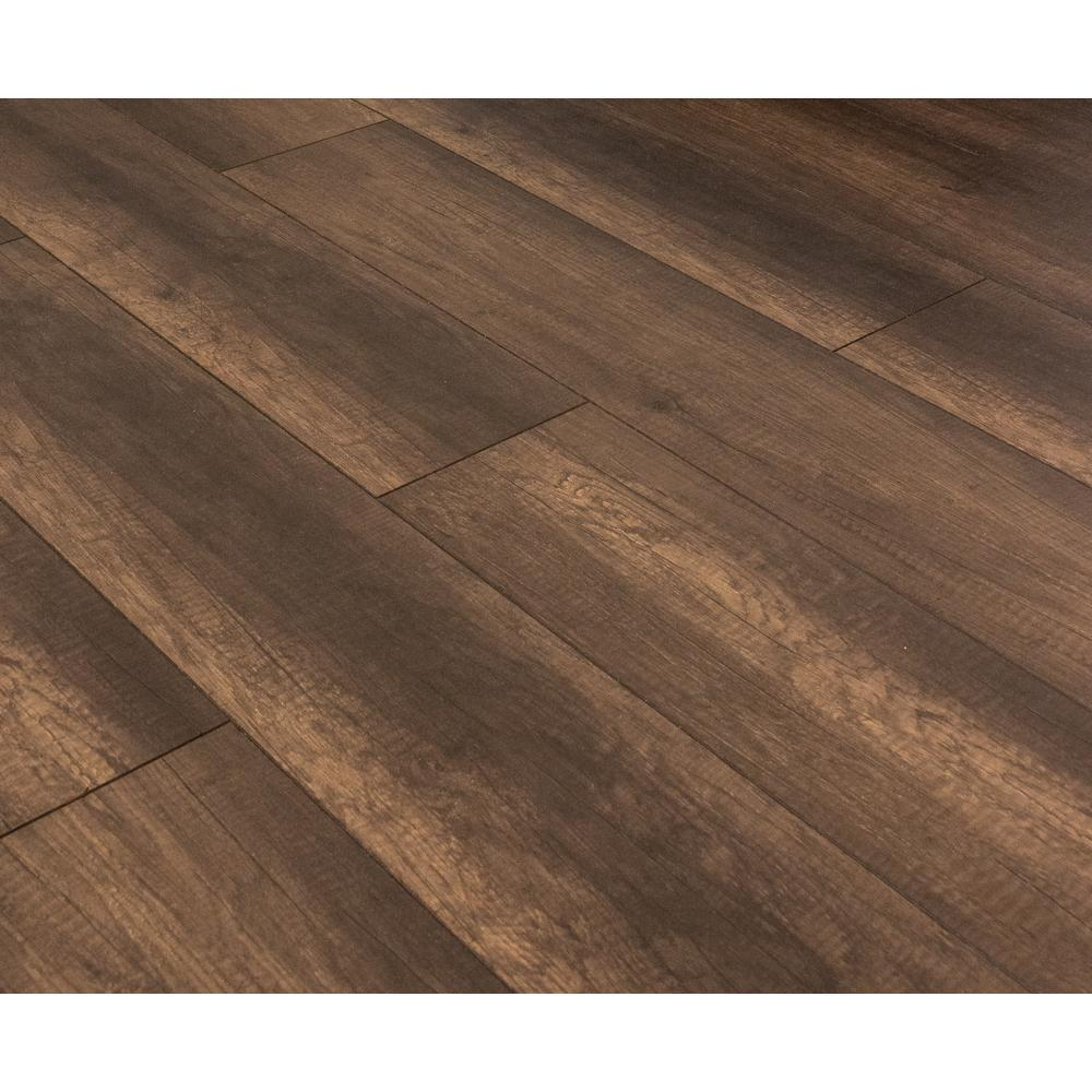Home Decorators Collection Take Home Sample - Burlington Hickory Laminate Flooring - 5 in. x 7 in., Dark