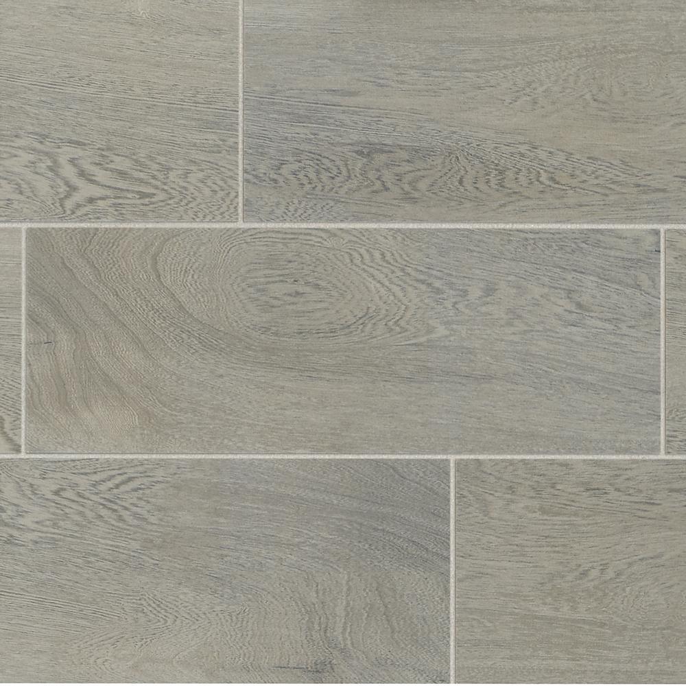 TrafficMASTER Glenwood Fog 7 in. x 20 in. Ceramic Floor and Wall Tile (10.89 sq. ft. / case)