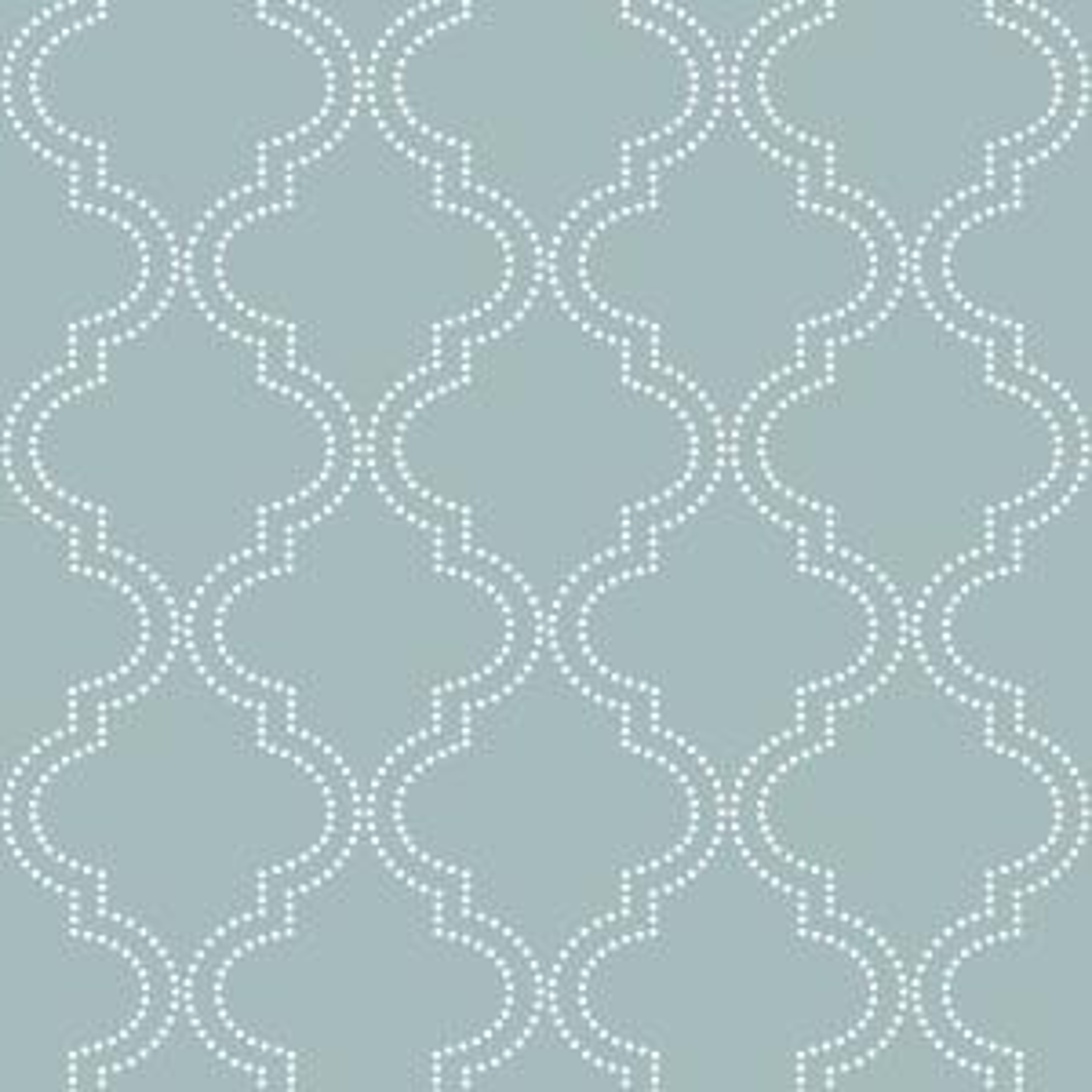 NuWallpaper Slate Blue Quatrefoil Peel And Stick Wallpaper by NuWallpaper