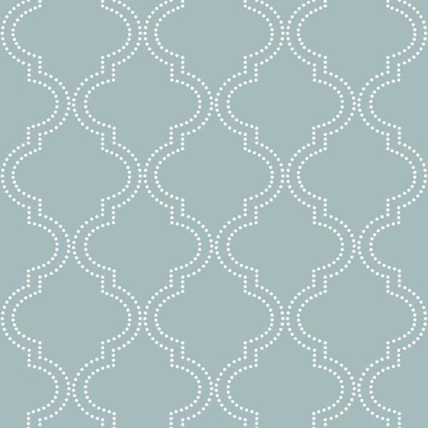 Slate Blue Quatrefoil Vinyl Strippable Wallpaper (Covers 30.75 sq. ft.)