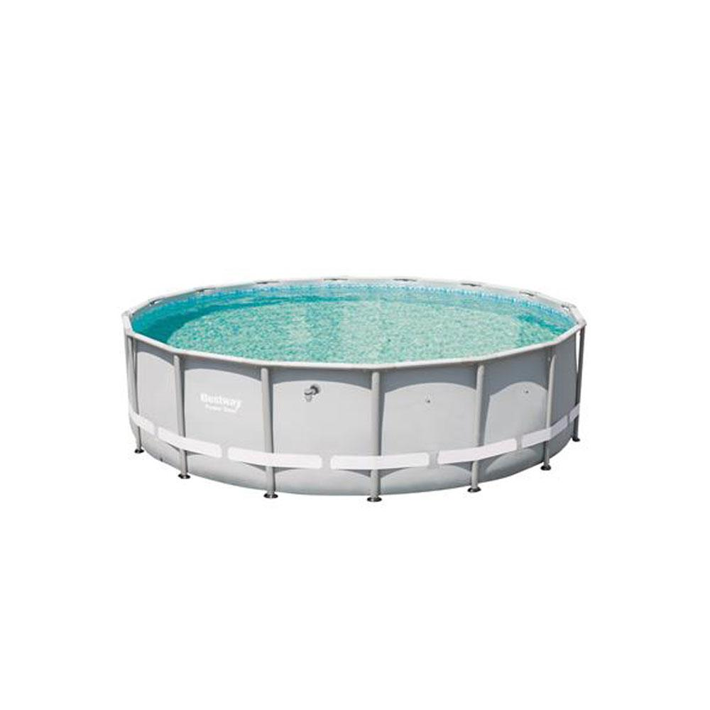 Bestway 16 ft. x 48 in. Deep Steel Metal Frame Round Above Ground Swimming  Pool