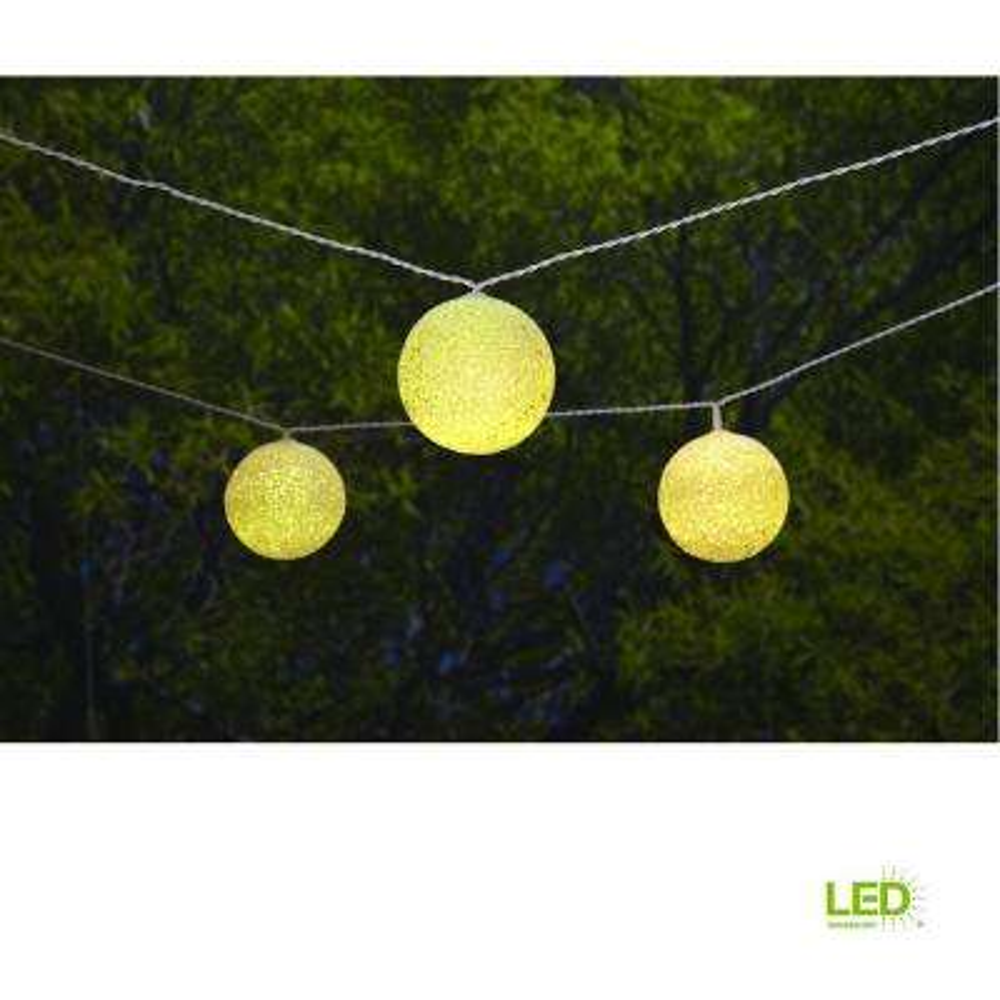 19.6 ft. Solar Integrated LED 10 Head String Light