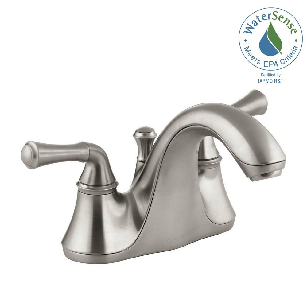Forte 4 in. Centerset 2-Handle Low-Arc Water-Saving Bathroom Faucet in Vibrant