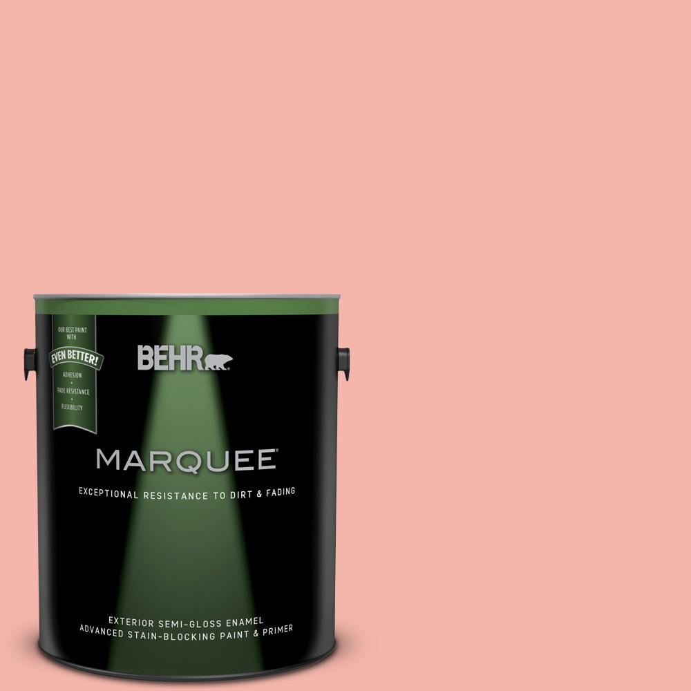 BEHR MARQUEE 1 gal. #P180-3 Pink Mimosa Semi-Gloss Enamel Exterior ...