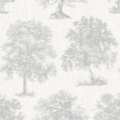 Simplicity Enchanted Tree Silver Removable Wallpaper