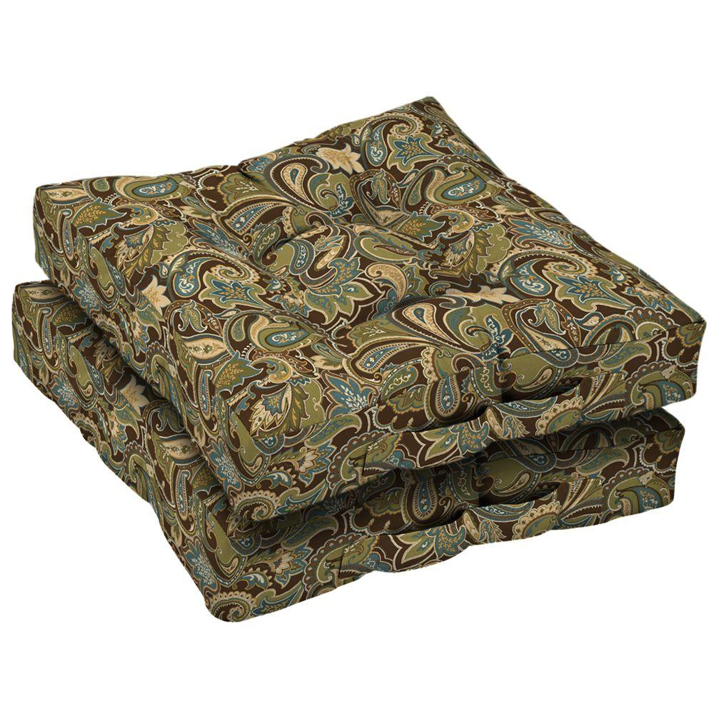 Arden Lakeside Paisley Deck Cushion (Set Of 2)-DISCONTINUED