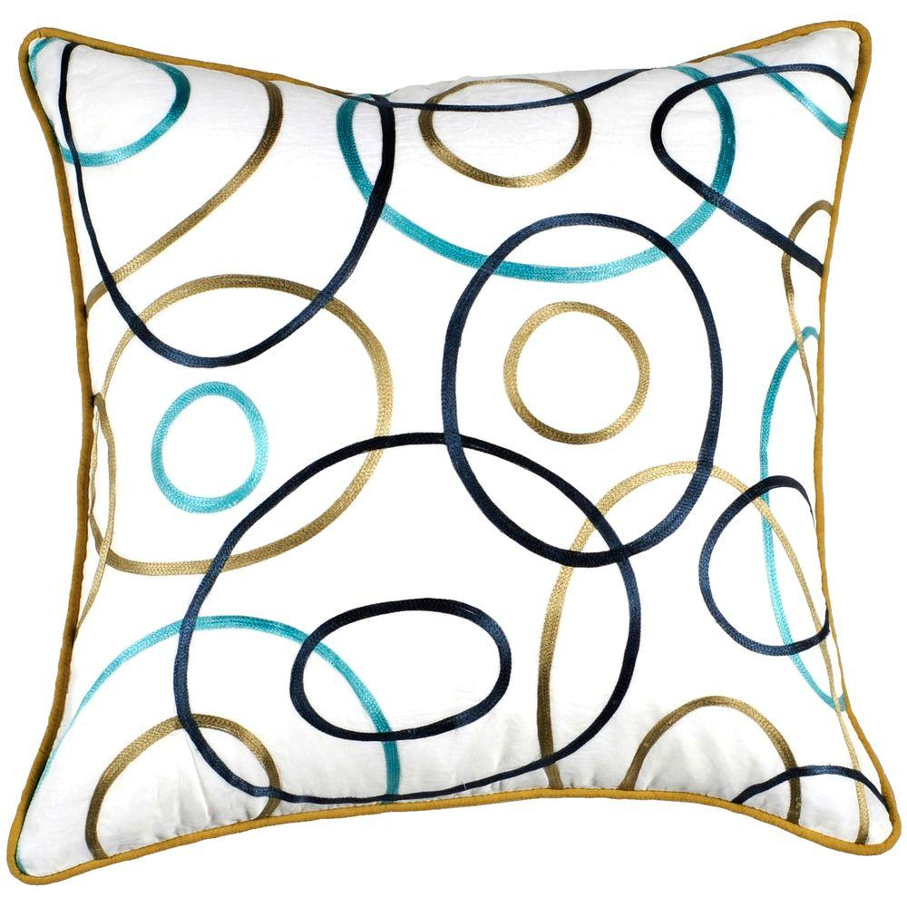 Artistic Weavers CirclesF 18 in. x 18 in. Decorative Pillow-DISCONTINUED