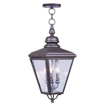 Providence 3-Light Bronze Outdoor Incandescent Pendant