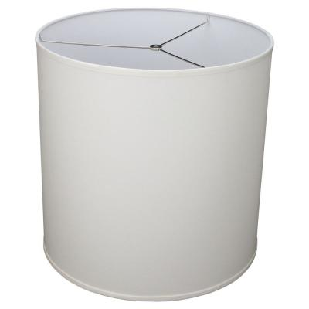 Fenchel Shades 18 in. Top Diameter x 18 in. Bottom Diameter x 18 in. Height Drum Lamp Shade - Linen Cream