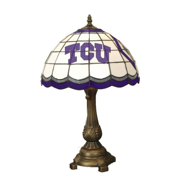 19.5 in. Antique Bronze - Tiffany Table Lamp-Texas Christian