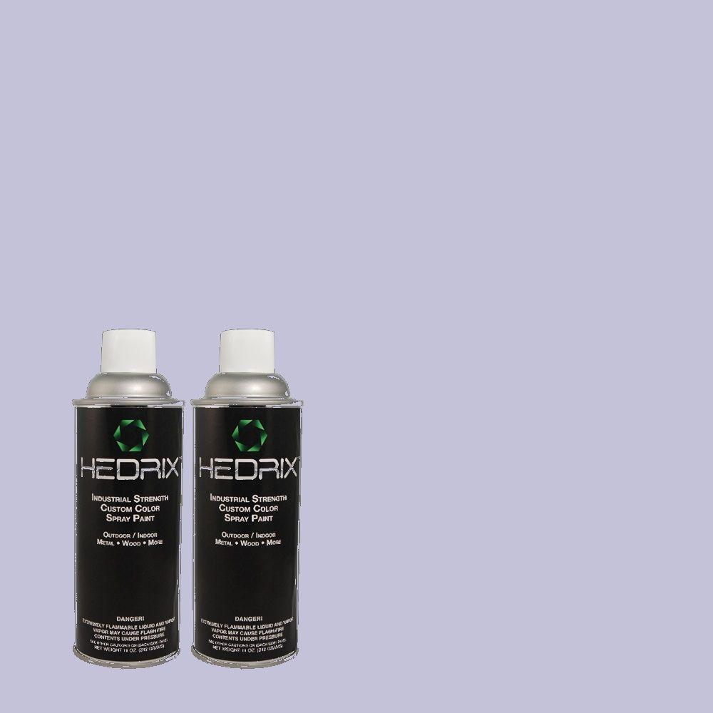 Hedrix 11 oz. Match of 620A-3 Rhapsody Lilac Flat Custom Spray Paint (2-Pack)