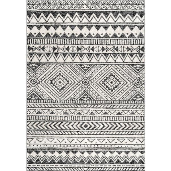 Becky Transitional Tribal Dark Gray 7 ft. x 9 ft. Area Rug