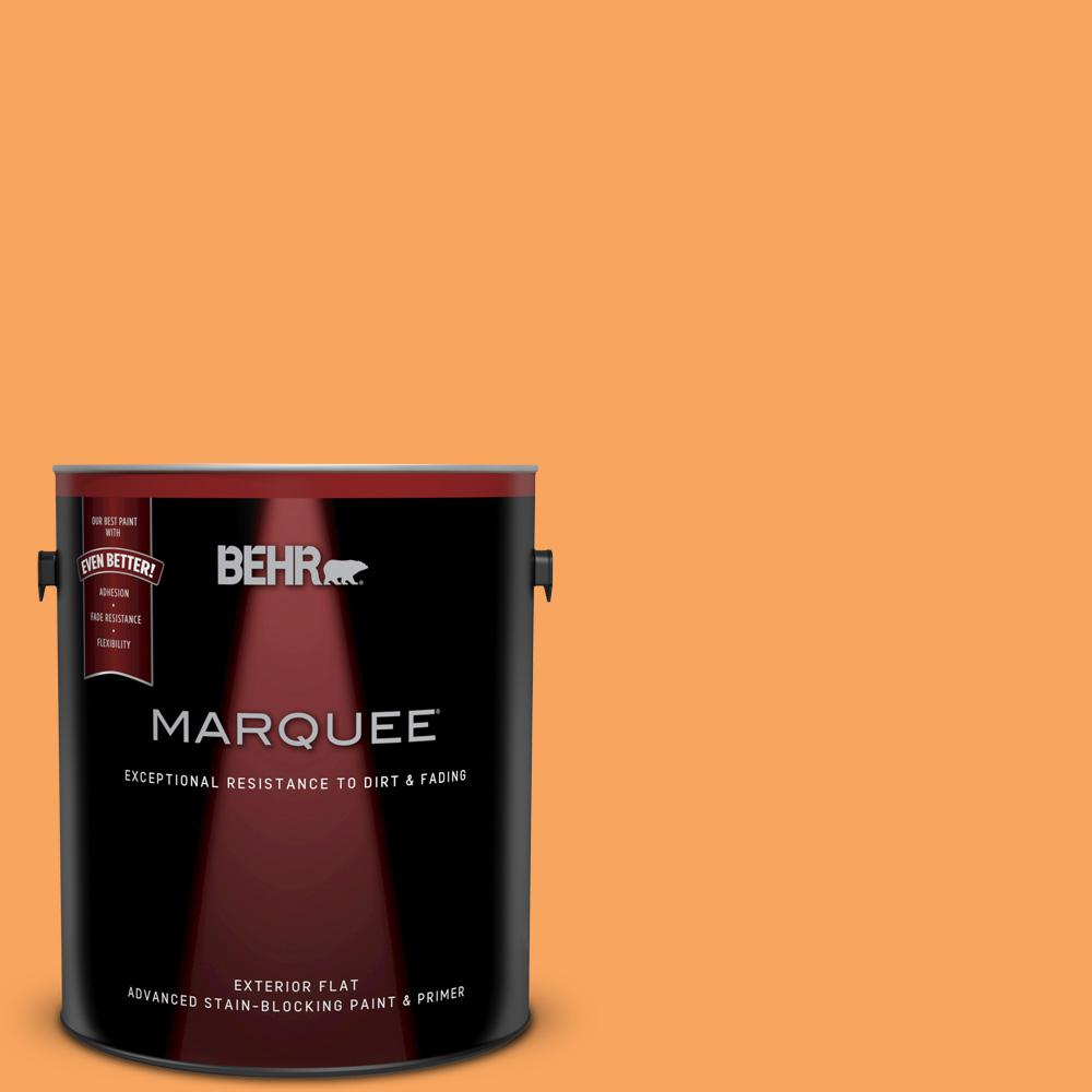 Painting Walls In Shades Of Melon: BEHR MARQUEE 1-gal. #270B-5 Melon Flat Exterior Paint