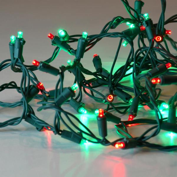 Lumabase 70 Light Red And Green Led Mini String Lights 38801 The Home Depot