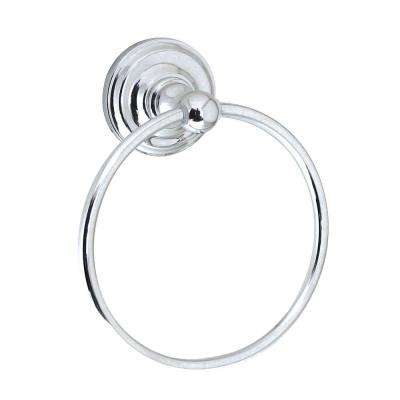 VIOLA Wall Mounted Towel Ring in Polished Chrome