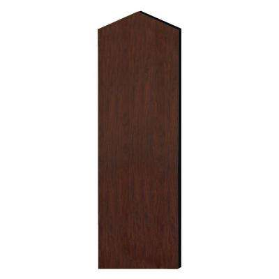 Laminate Double End Side Panel for 21 in. D Extra Wide Designer Wood Locker with Sloping Hood in Mahogany