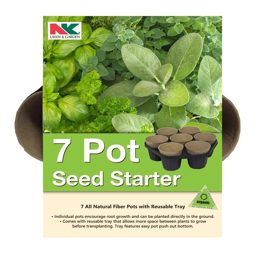 nk 7 pot seed starter kit pfb7 the home depot