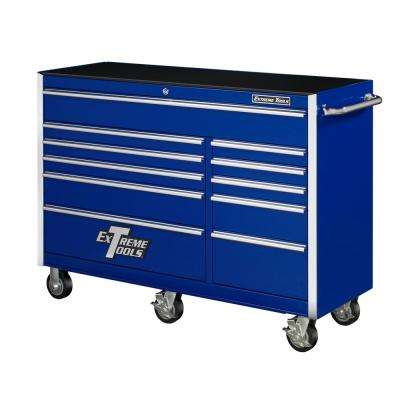 56 in. 11-Drawer Blue Standard Roller Cabinet Tool Chest