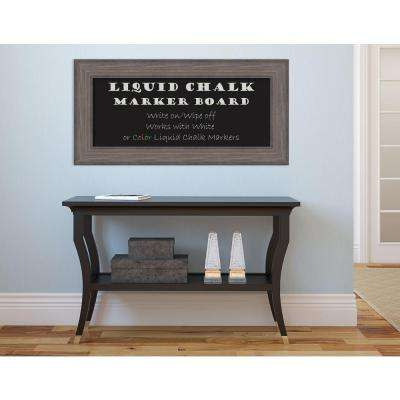 Country Barnwood Wood 36 in. W x 18 in. H Framed Liquid Chalk Marker Board