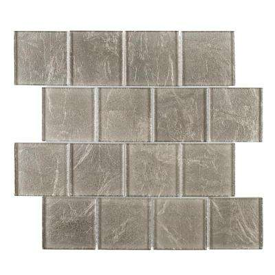 Golden Valley 11-1/2 in. x 11-1/2 in. x 8 mm Glass Mosaic Tile