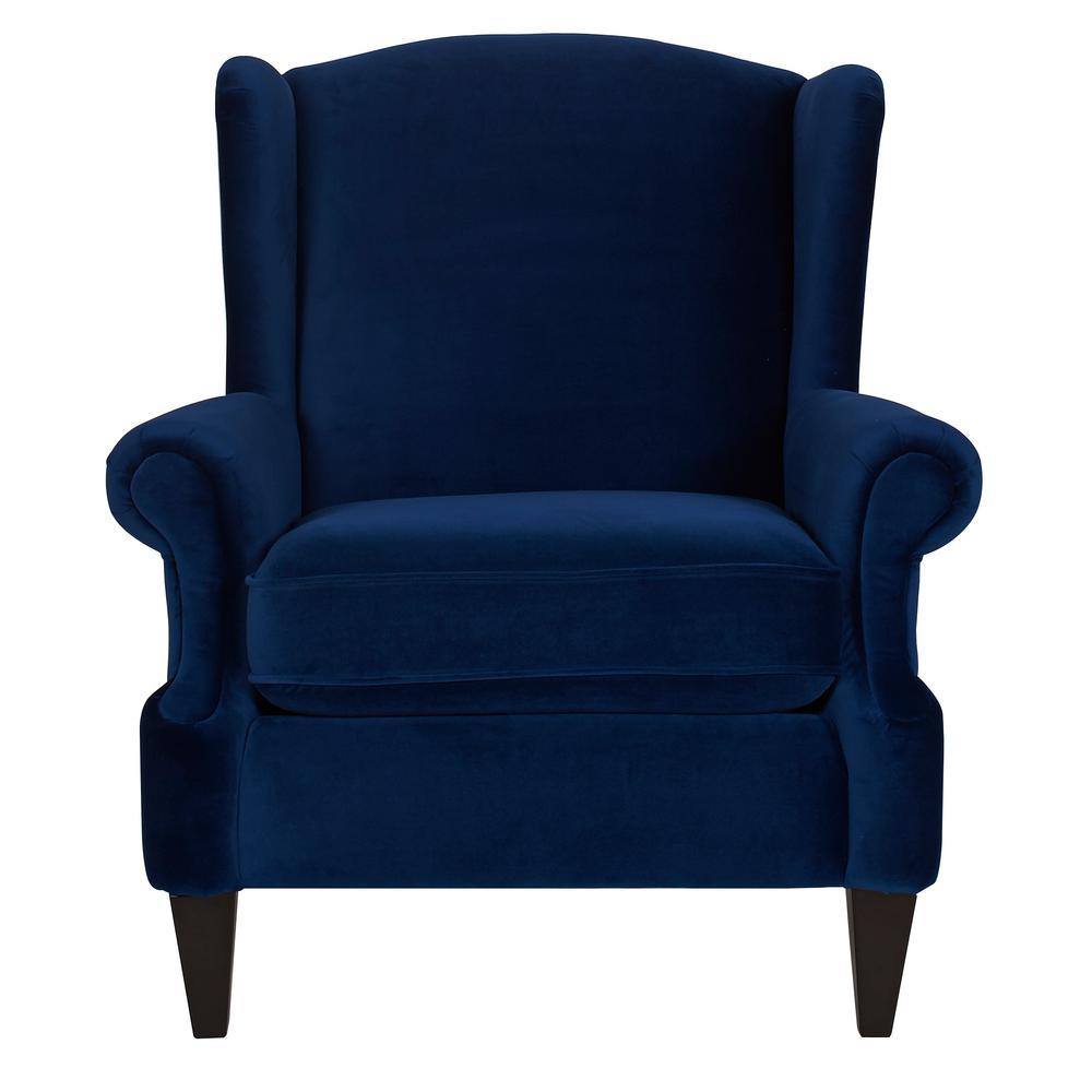 Anya Navy Blue Arm Chair