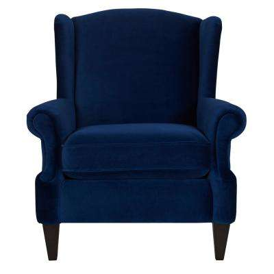 Anya Navy Blue Arm Chair