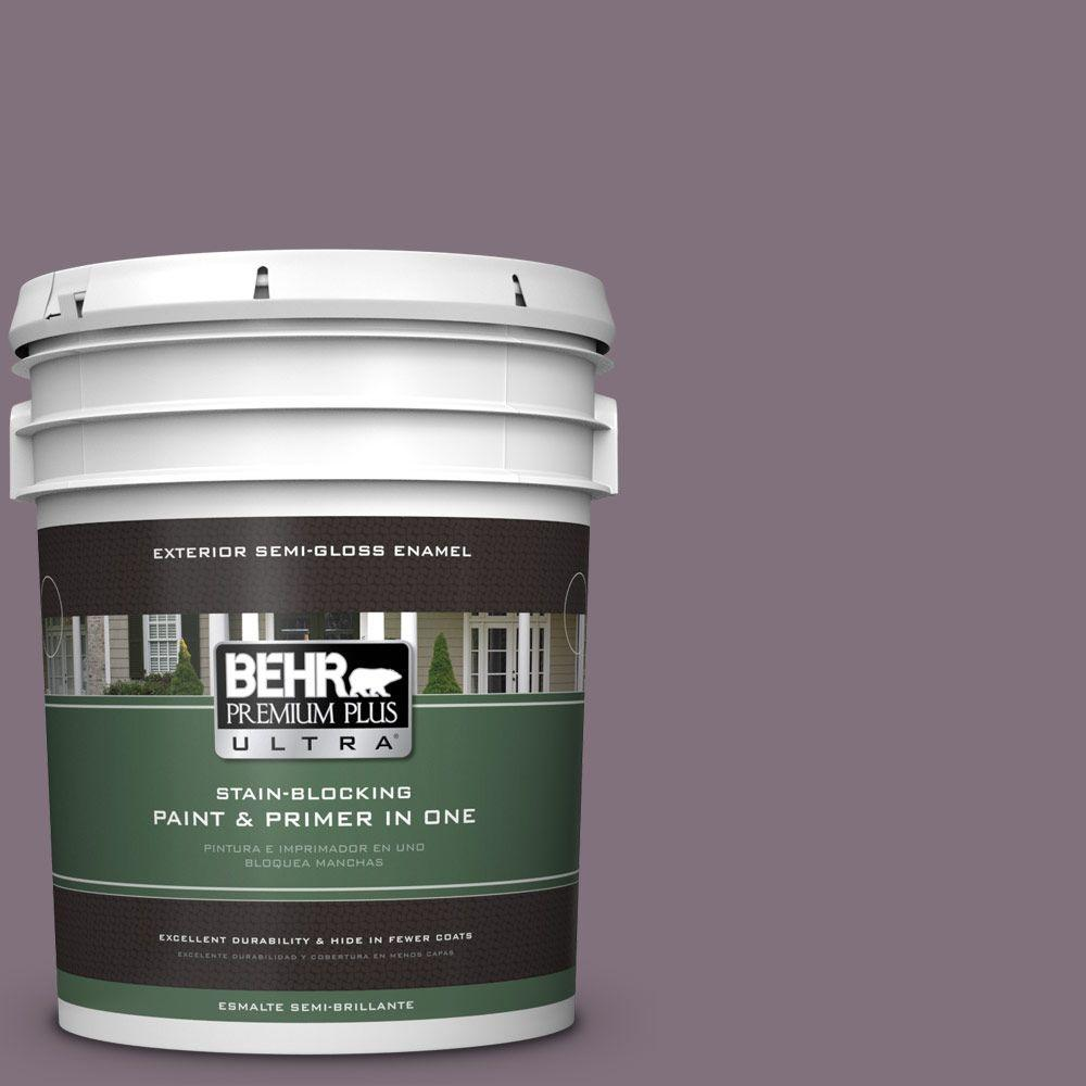 BEHR Premium Plus Ultra 5-gal. #690F-6 Wine Frost Semi-Gloss Enamel Exterior Paint