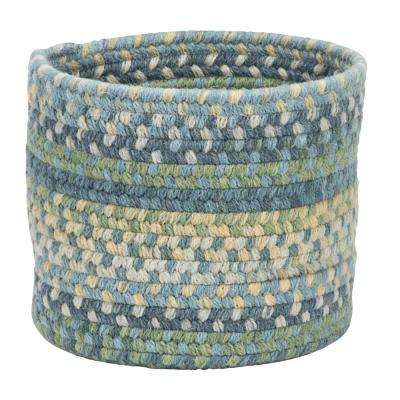 Acre Small Space Wool Basket Morning Dew 10 in. x 10 in. x 8 in.