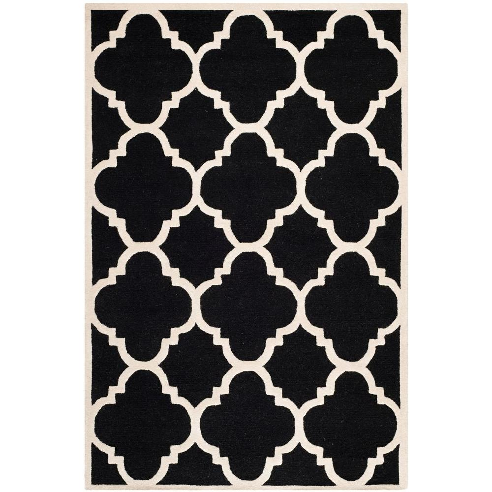 Safavieh Cambridge Black Ivory 6 Ft X 9 Ft Area Rug