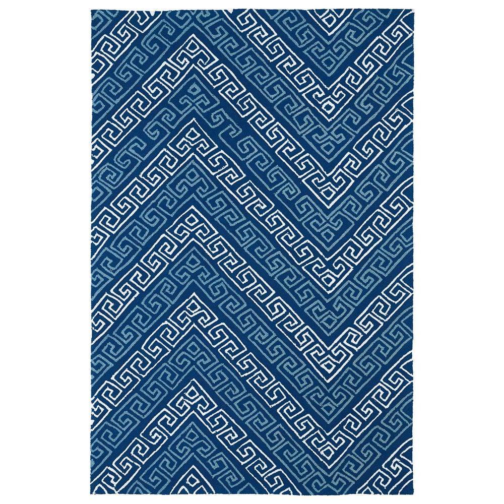 Matira Blue 8 ft. x 9 ft. Indoor/Outdoor Area Rug