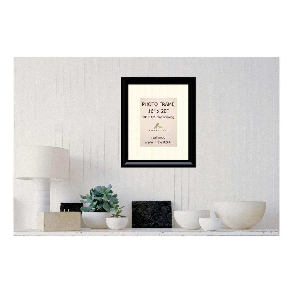 White Matted Black Picture Frame