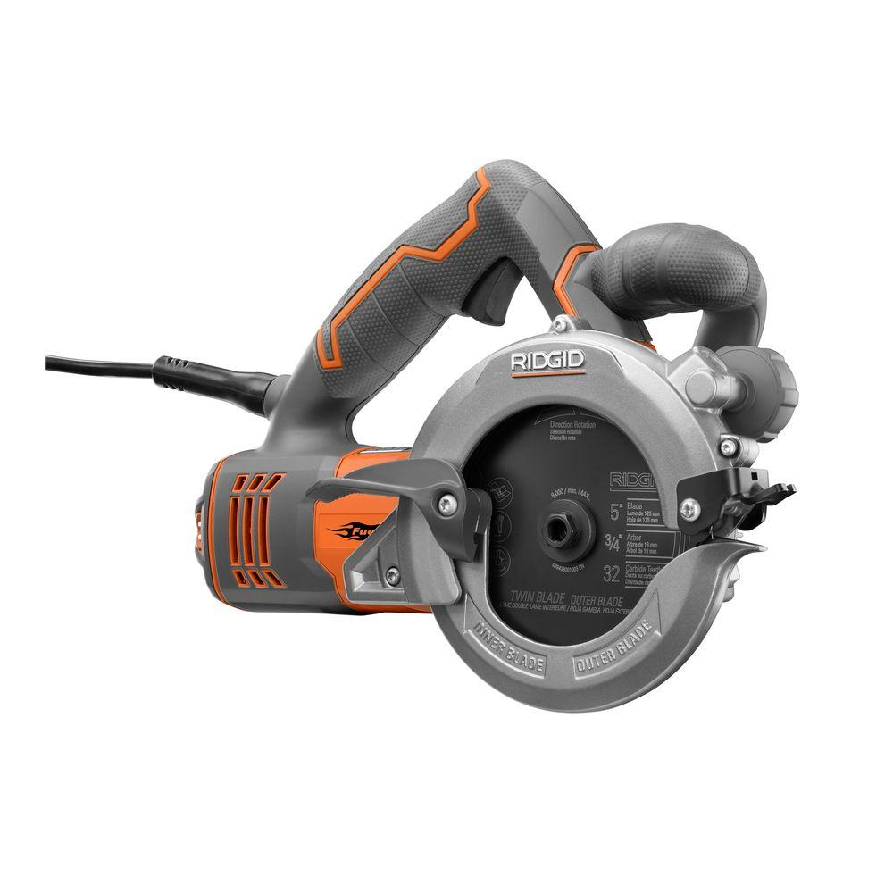 RIDGID Reconditioned 10 Amp 5 in. 2-Blade Circular Saw