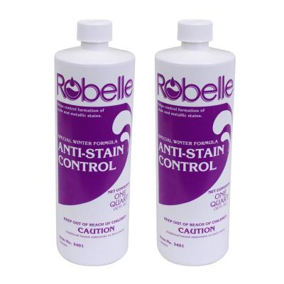 1 qt. Swimming Pool Stain Preventer Winter Pool Closing Anti-Stain Control (2-Pack)