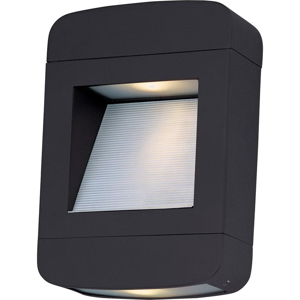 Oriax Infinite Wall-Mount 2-Light Outdoor Architectural Bronze LED Light
