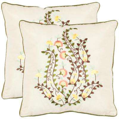 Parides Embroided Pillow (2-Pack)