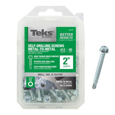 Hex Drive 1-1//4 Length Hex Washer Head Plain Finish Pack of 10 #3 Drill Point 410 Stainless Steel Self-Drilling Screw #12-14 Thread Size