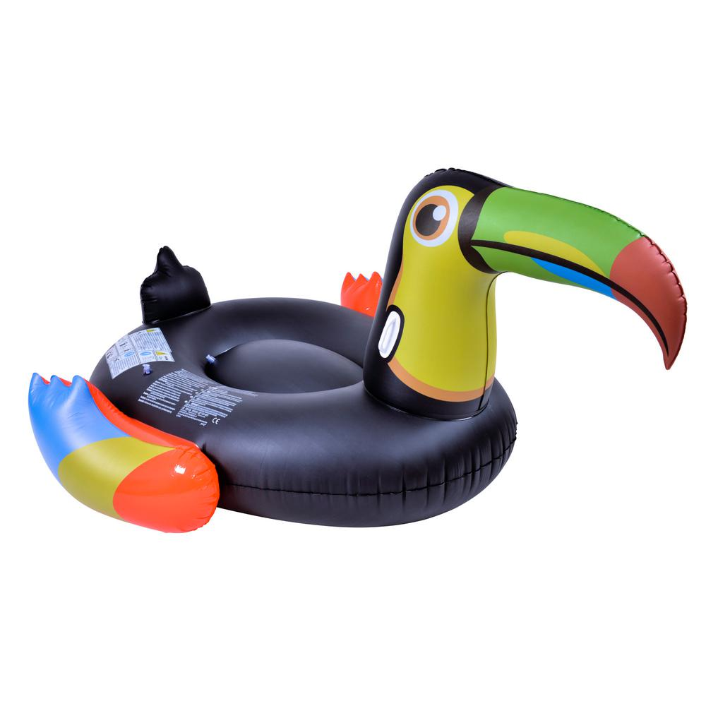 Rhino Master Tropical Giant Toucan Inflatable Pool Float Large Blow Up Novelty Flotation Device Nt6082 The Home Depot