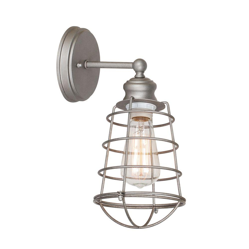 Design House Ajax Collection 1 Light Galvanized Indoor Sconce