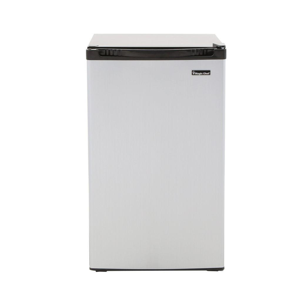 Magic Chef 4.4 cu. ft. Mini Refrigerator in Stainless Look-HMBR440SE ...