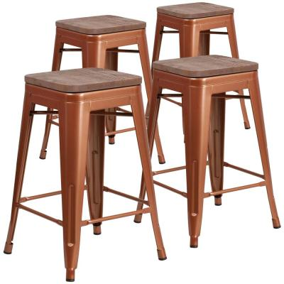 24 in. Copper Bar Stool (4-Pack)