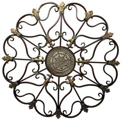Fabulous Metal Bronze Wall Decor with Intricate Design