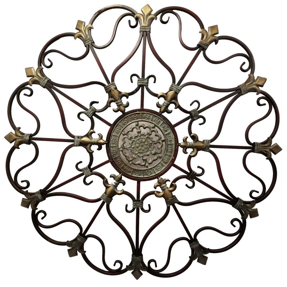 Benzara Fabulous Metal Bronze Wall Decor with Intricate Design BM03245