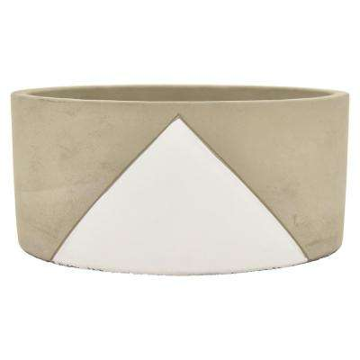 3.5 in. Planter - Grey/White