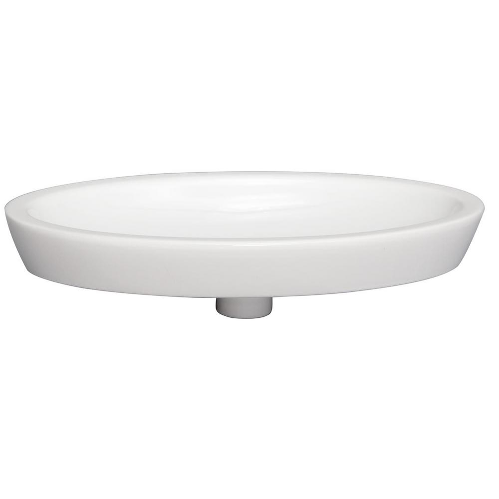 Resort 23 in. Drop-In Bathroom Sink in White