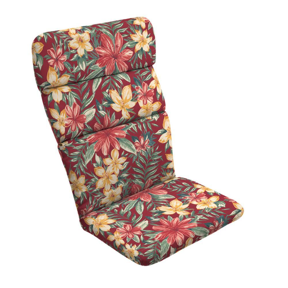 20 x 45.5  Ruby Clarissa Tropical Outdoor Adirondack Chair Cushion