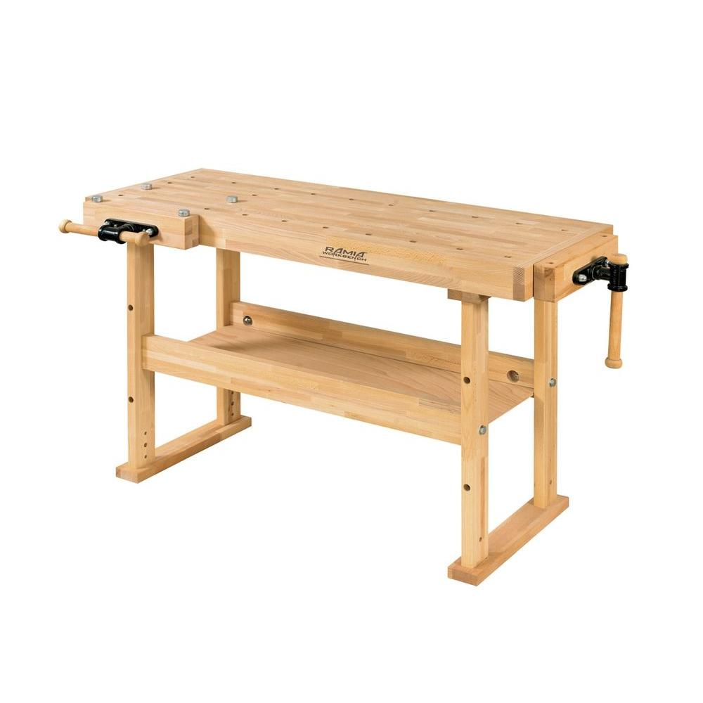 Husky 18 ft x 3 ft portable jobsite workbench 225047 the home depot advanced 5 ft hobby workbench with shelf greentooth Image collections